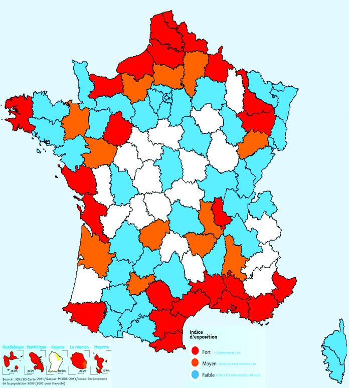 carte de france des inondations